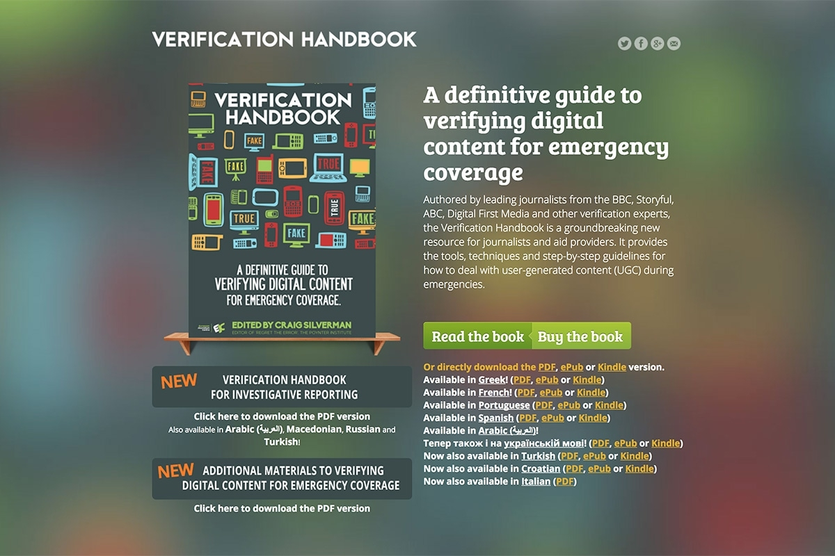 Verificationhandbook Landing